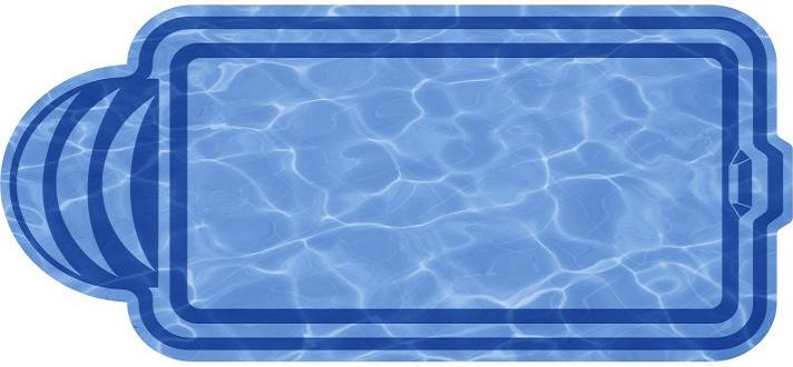 Композитный бассейн Верона 7,05х3,22х1,51 м
